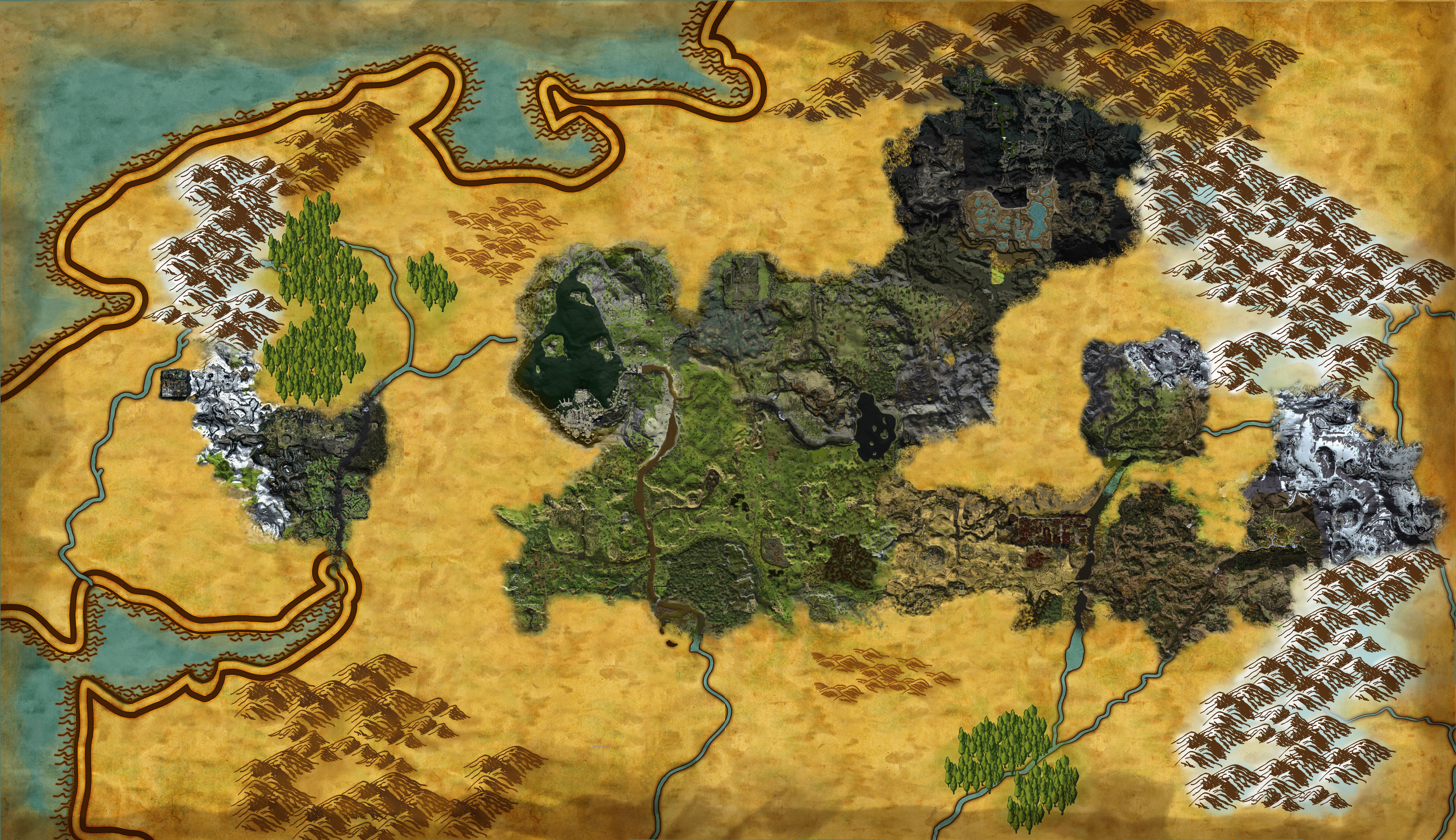 Lord Of The Rings Online World Map.Detailed Lotro Maps Document A Year Of New Content