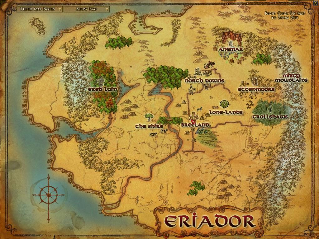 lotro  world map